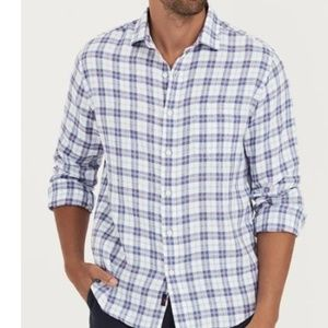 Faherty Washed Linen Shirt | Summer House Plaid